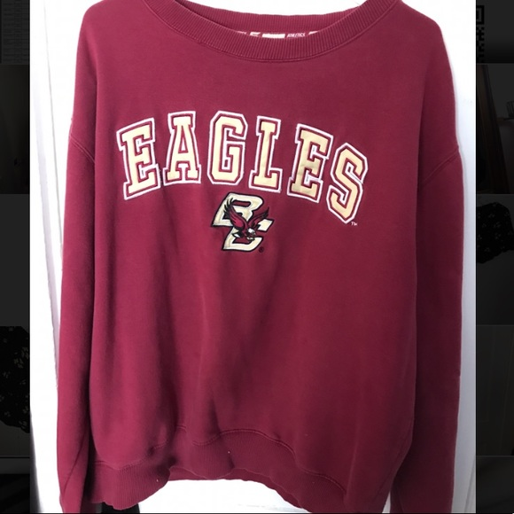 Youth Boston College Eagles Quarter Zip Hooded Windshirt